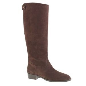 J. Crew Brown Suede Field Riding Boots